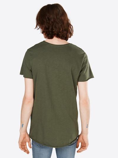 JACK & JONES T-Shirt 'JJEBAS TEE SS U-NECK NOOS' in oliv: Rückansicht