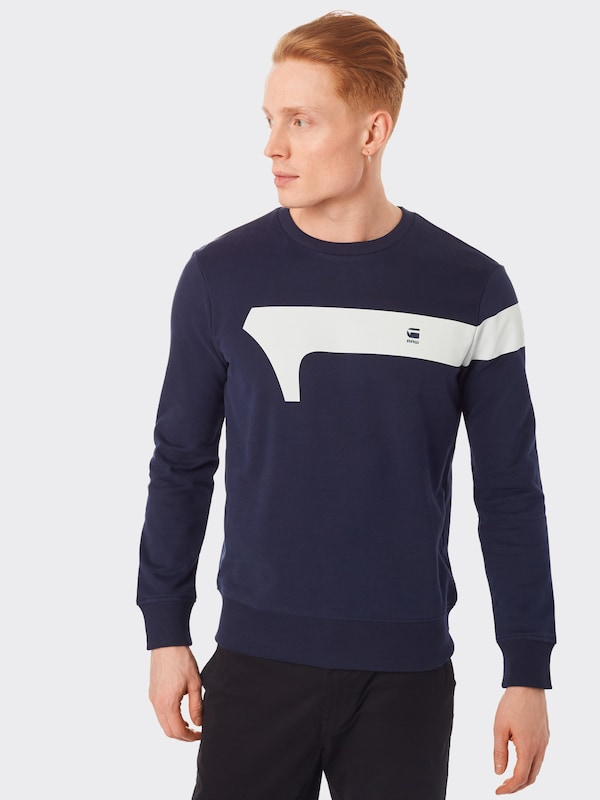 G-Star RAW Sweatshirt 'Graphic 13' in navy: Frontalansicht