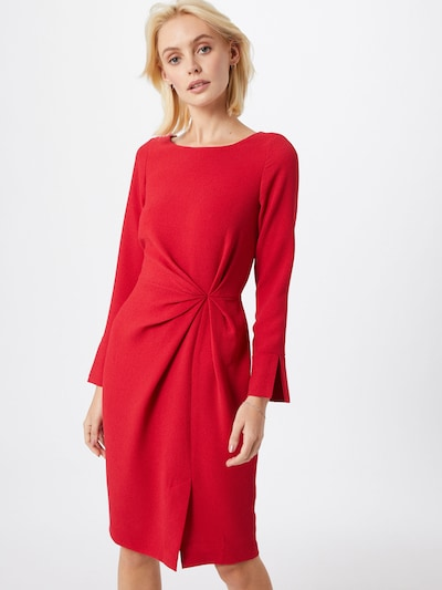 Closet London Kleid 'Closet Pleated Front Pencil Dress' in rot, Modelansicht