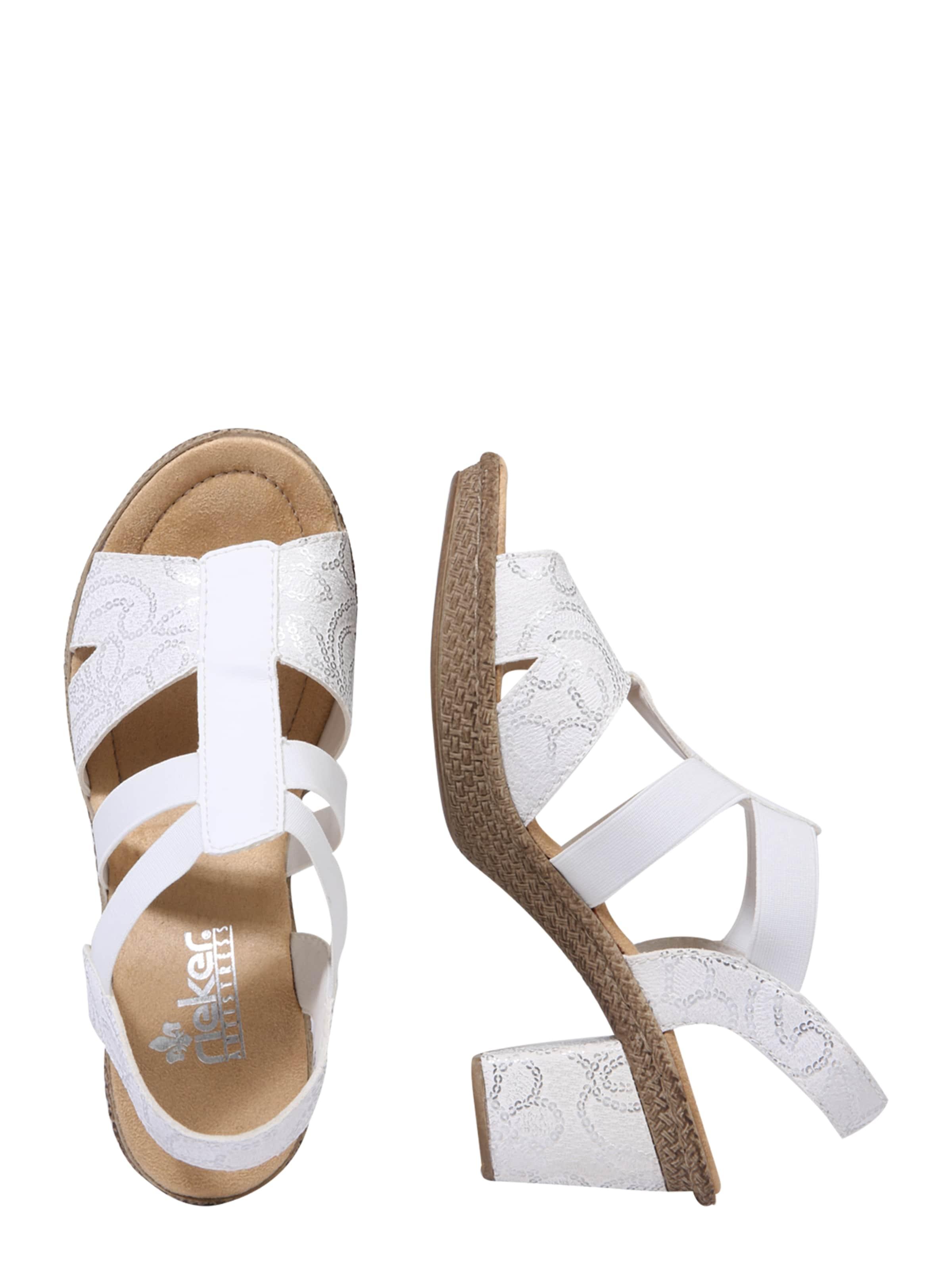 Sandale SilberWeiß Rieker SilberWeiß Rieker Rieker Sandale In Sandale In 7Ygvbyf6