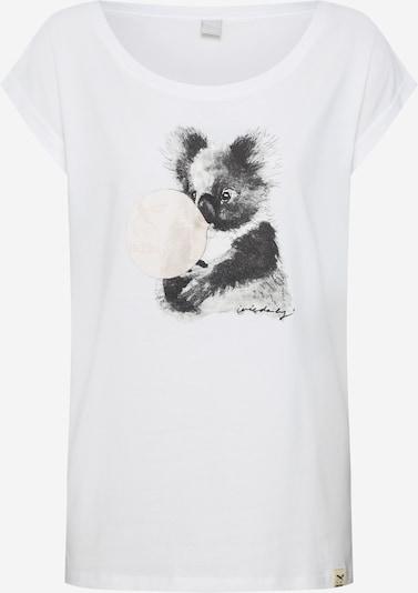 sötétszürke / fehér Iriedaily Póló 'Koala Bubble', Termék nézet
