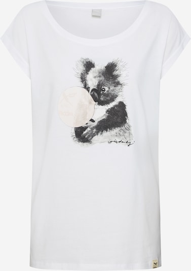 Iriedaily Majica 'Koala Bubble Tee' u siva / bijela, Pregled proizvoda