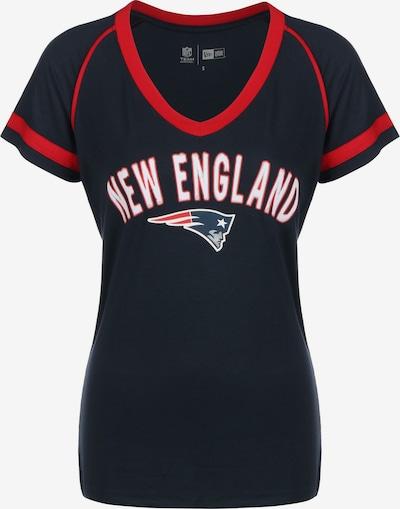 NEW ERA T-Shirt in marine / rot / weiß, Produktansicht