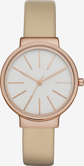 SKAGEN Uhr in ecru / rosegold / weiß, Produktansicht