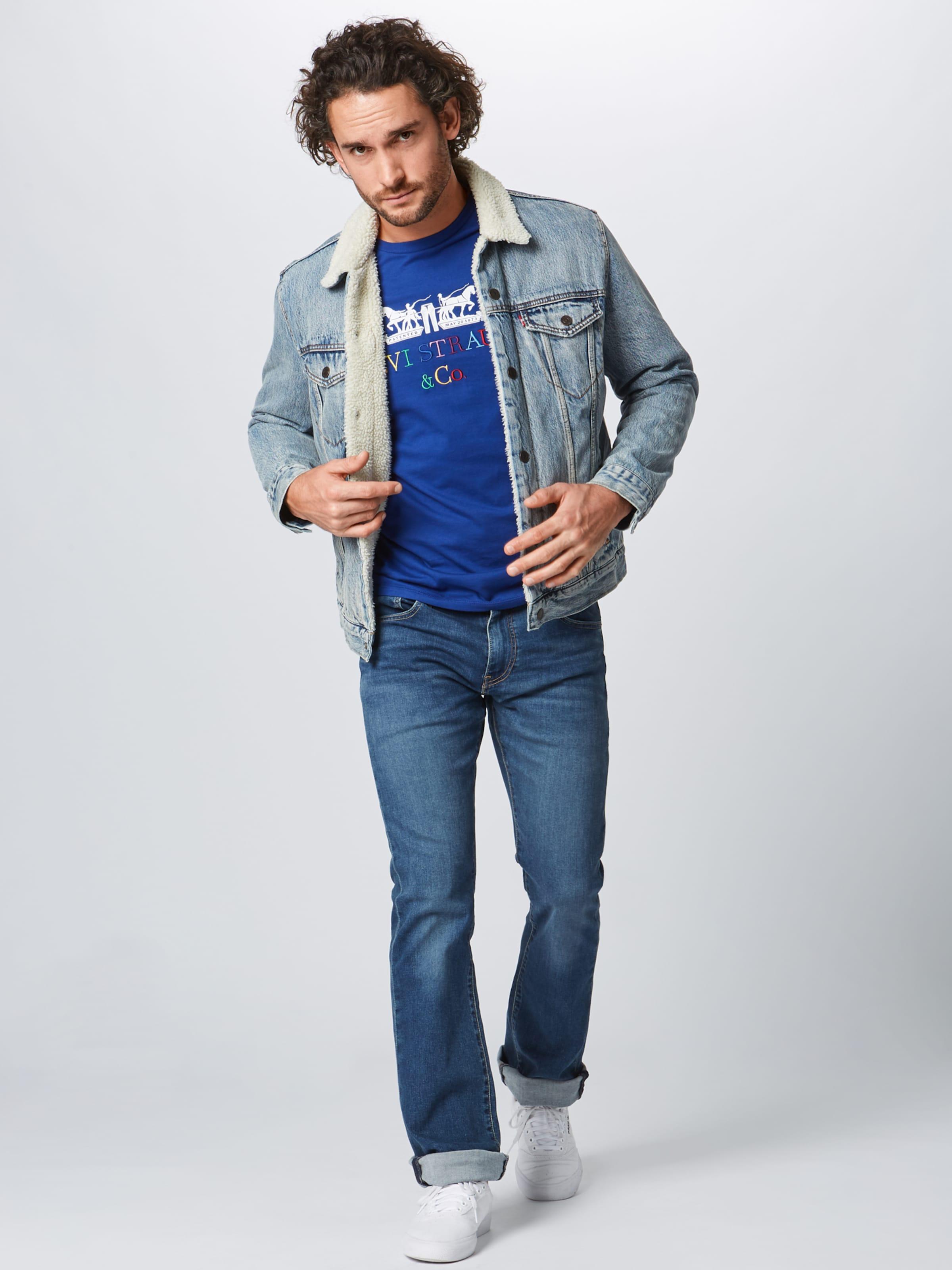 En Levi's Bleu '2horsegraphictee90slogotext' T shirt PkXTiuZwO