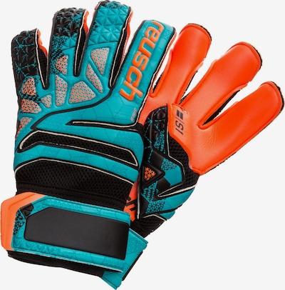 REUSCH Sporthandschoenen 'Prisma Prime S1 Evolution LTD' in de kleur Petrol / Neonoranje, Productweergave