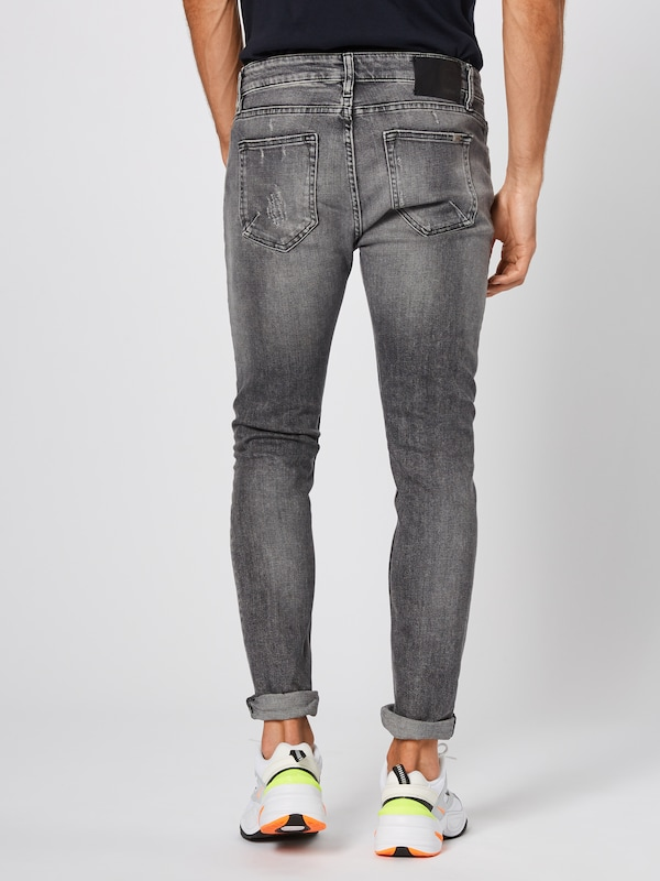 tigha Jeans 'Morten' in grey denim: Rückansicht
