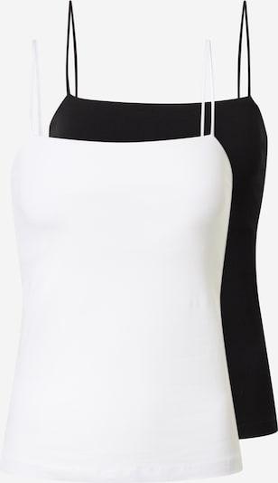 Gina Tricot Top 'Scarlet' - černá / bílá, Produkt