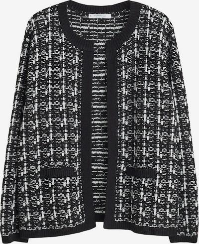 VIOLETA by Mango Strickjacke 'Nelita' in schwarz / weiß, Produktansicht