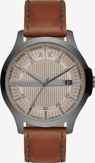 ARMANI EXCHANGE Uhr in braun / silbergrau, Produktansicht