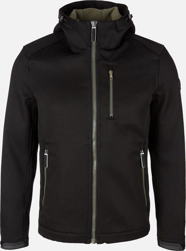 S.Oliver rot LABEL Softshelljacke in khaki   schwarz    Freizeit, schlank, schlank 547115