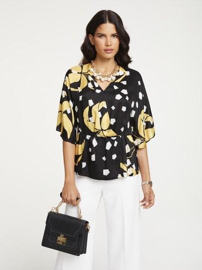 heine Bluse in gelb / schwarz / weiß, Modelansicht