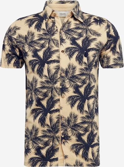 !Solid Hemd 'Jerold' in dunkelblau / gelb, Produktansicht