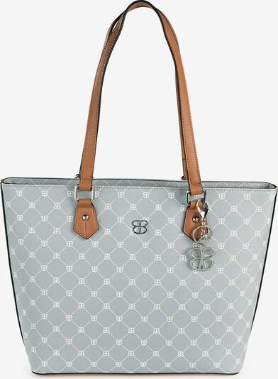Basler Handtasche in grau / weiß, Produktansicht