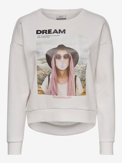 ONLY Sweatshirt in mischfarben / naturweiß: Frontalansicht