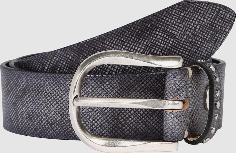 b.belt Handmade in Germany Ledergürtel in strukturierter Metallic-Optik