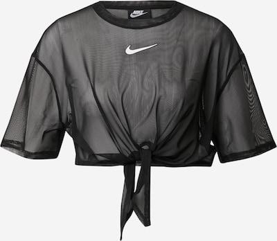 Nike Sportswear Shirt 'W NSW INDIO SS TOP' in schwarz / weiß, Produktansicht