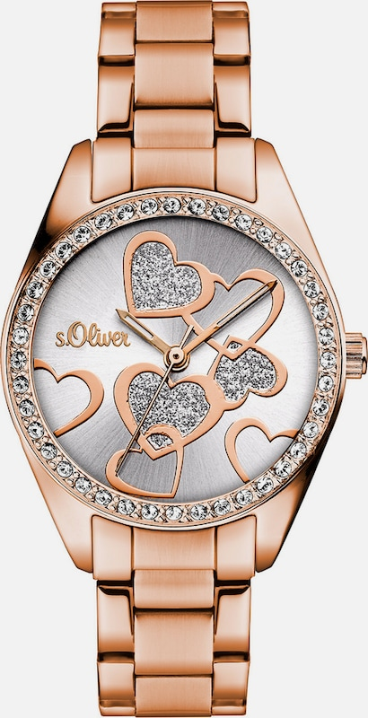 s.Oliver RED LABEL Armbanduhr, »SO-3140-MQ«