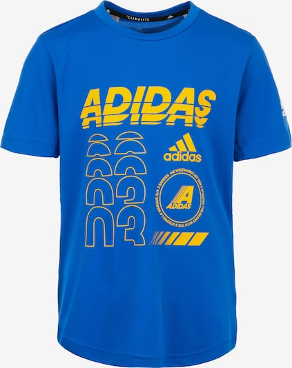 ADIDAS PERFORMANCE Trainingsshirt 'Breathe' in blau / gelb, Produktansicht