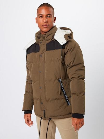Žieminė striukė 'Kobie' iš tigha , spalva - rusvai žalia / juoda: Vaizdas iš priekio
