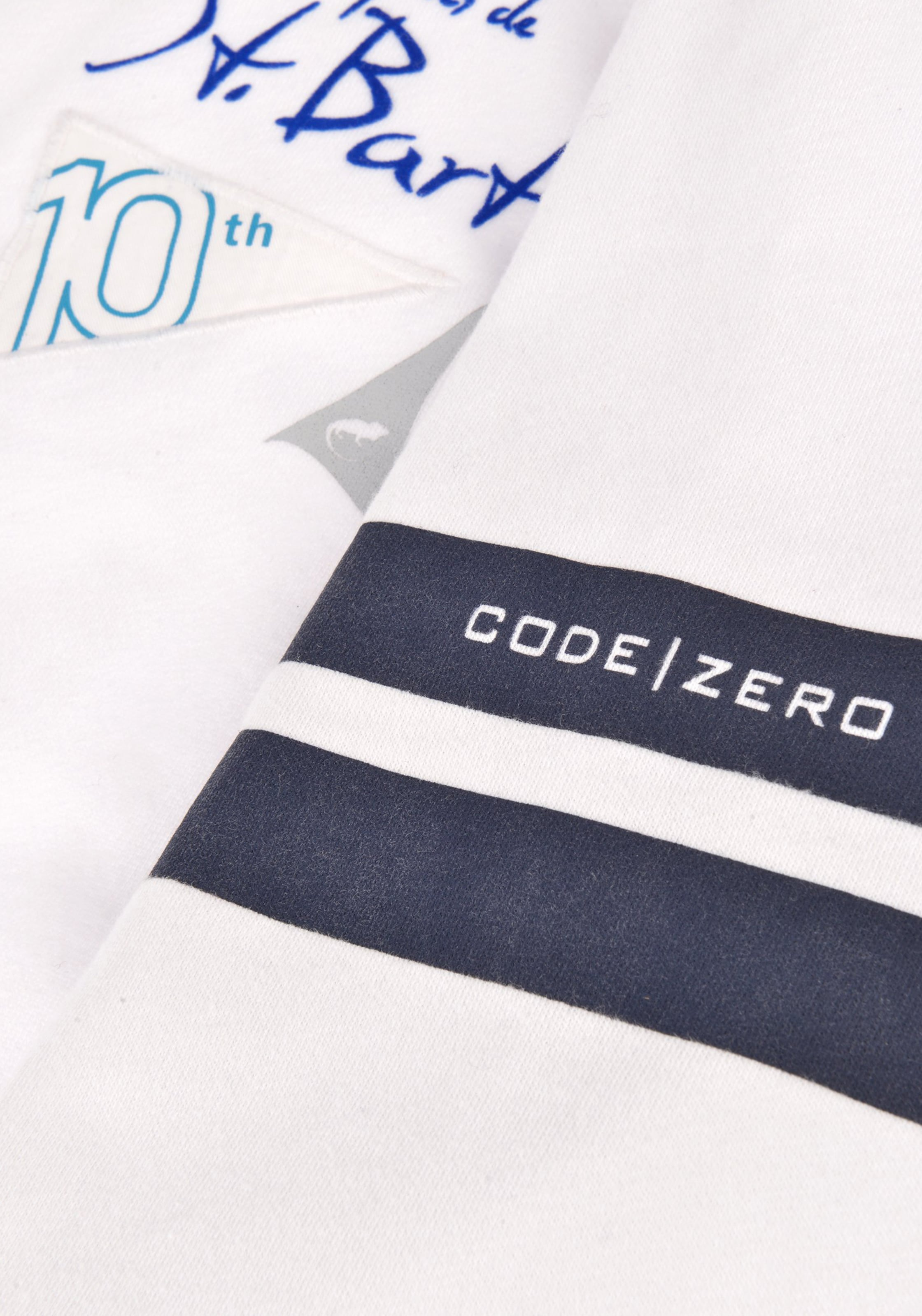 zero In UltramarinblauWeiß Code 'french Sweatjacke Caribean' tshQrdC