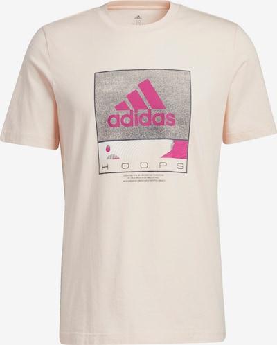 ADIDAS PERFORMANCE T-Shirt 'Future Hoops Graphic' in grau / pink / hellpink, Produktansicht