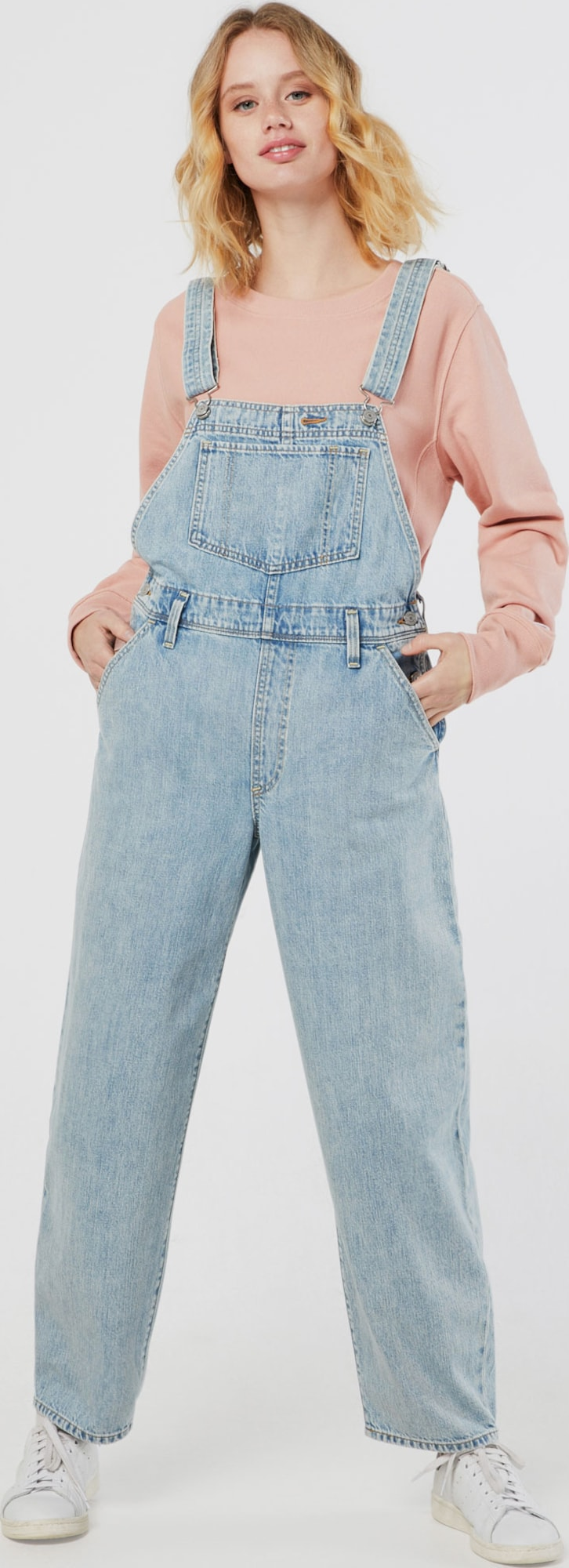Citaten Weergeven Jeans : Levi s tuinbroek jeans baggy in blauw about you