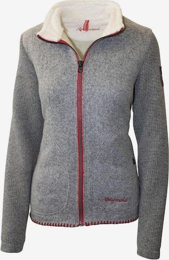 Almgwand Jacke 'Gernkogel' in graumeliert / rot, Produktansicht