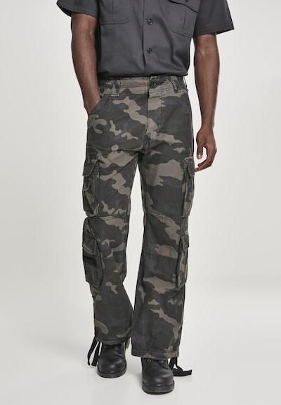 Brandit Hose in navy / braun / khaki / oliv, Modelansicht