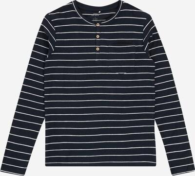 NAME IT T-Shirt 'Valentin' en bleu foncé / blanc: Vue de face