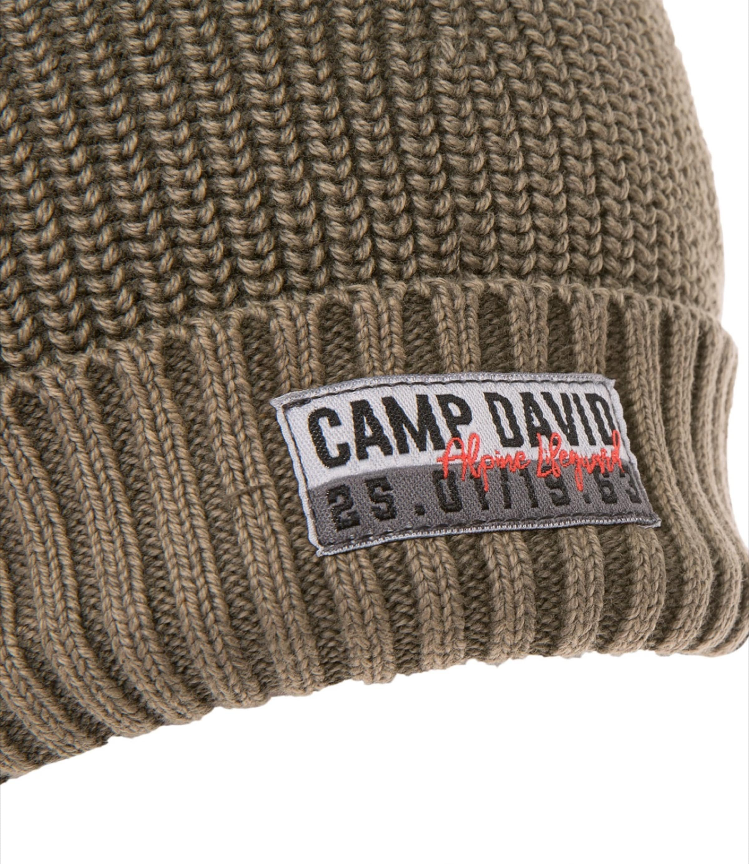 Camp David Camp David Strickmütze Camp Grün Strickmütze In In Grün 5Rc3qjL4A