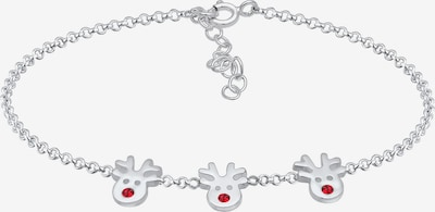 ELLI Armband 'Hirsch, Weihnachten' in feuerrot / silber, Produktansicht
