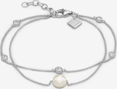 QOOQI Armband in silber / transparent / perlweiß, Produktansicht