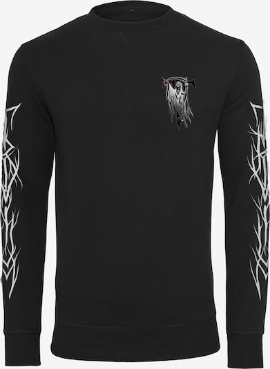 Mister Tee Crewneck 'Trivium Pointing Reaper' in schwarz: Frontalansicht