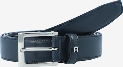 AIGNER Gürtel in schwarz / silber: Frontalansicht