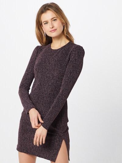 MINKPINK Kleid 'LUREX' in dunkellila / schwarz, Modelansicht