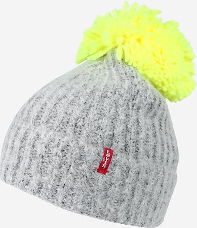 LEVI'S Mütze in neongelb / hellgrau, Produktansicht