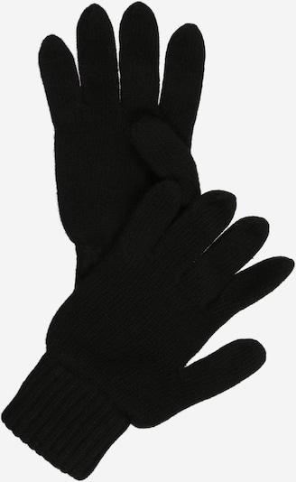 Zwillingsherz Kurzfingerhandschuhe in schwarz, Produktansicht