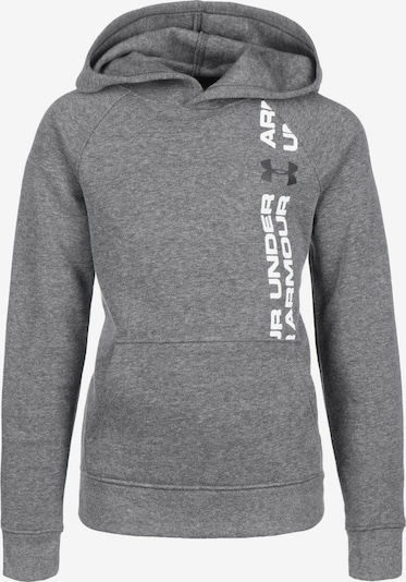 UNDER ARMOUR Sportief sweatshirt 'Rival Wordmark' in de kleur Grijs, Productweergave