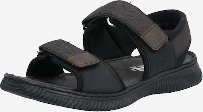 RIEKER Sandales en noir, Vue avec produit
