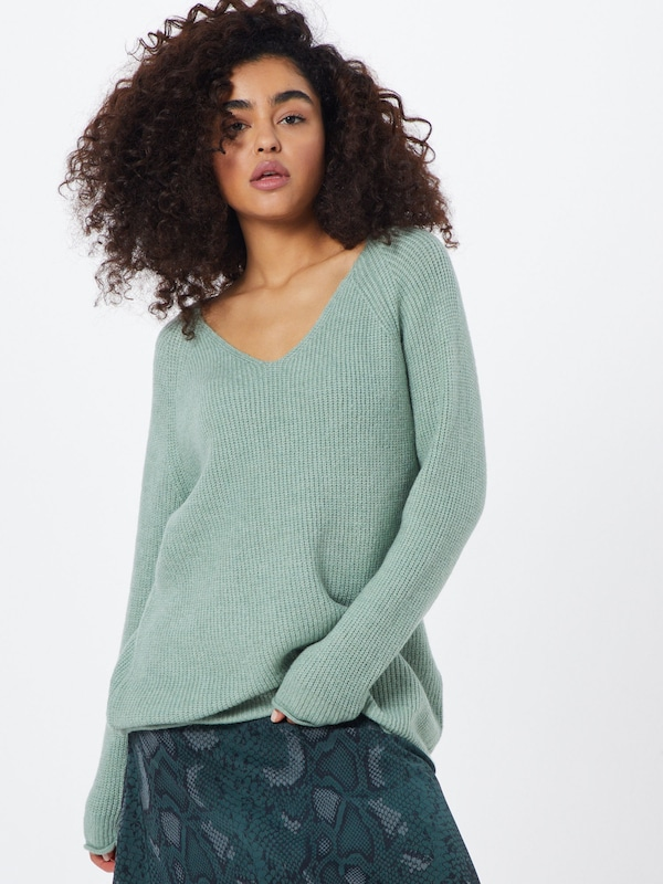 ABOUT YOU Pullover 'Laren' in mint: Frontalansicht