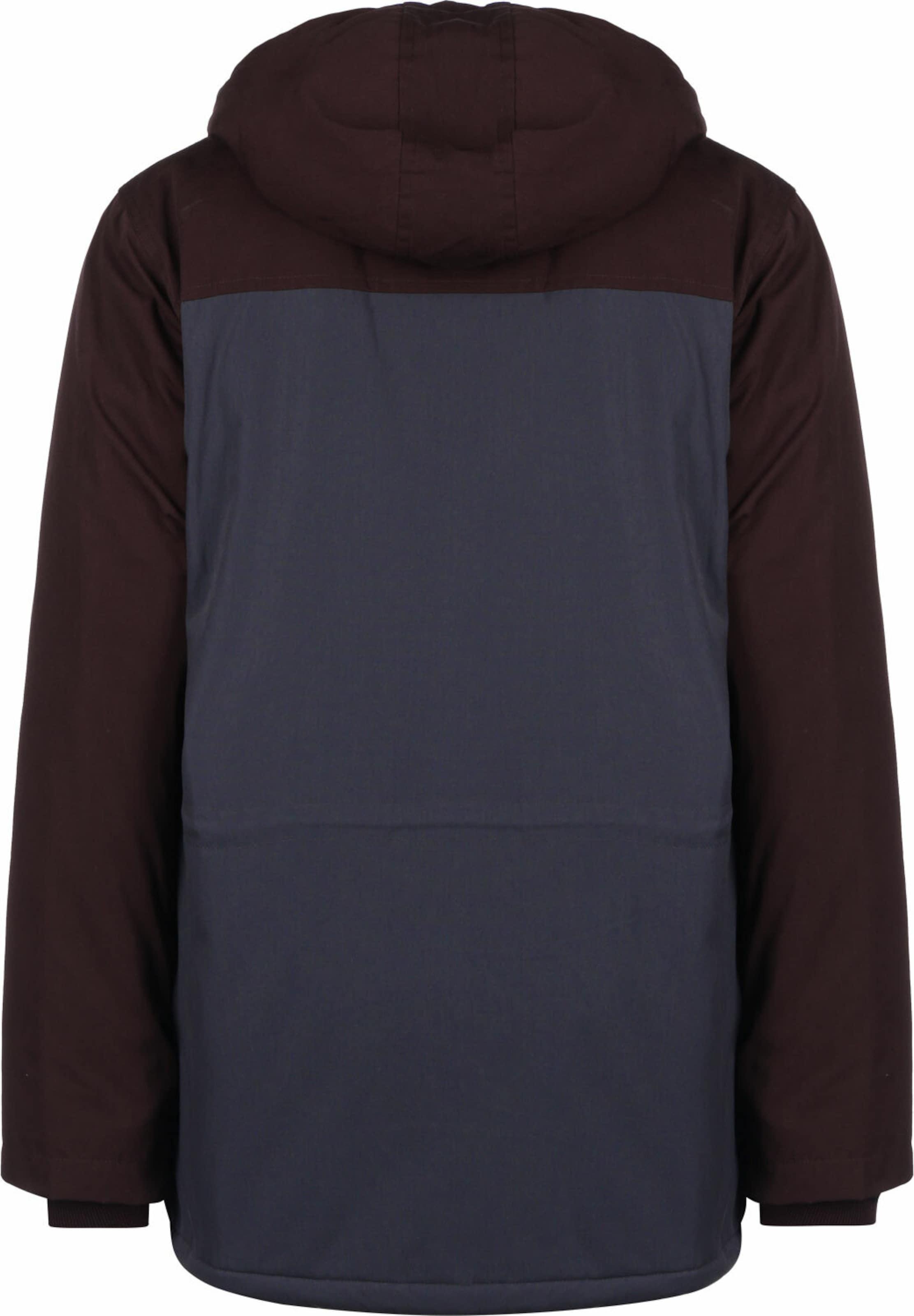 Iriedaily Parka ' Eissegler 2.0 ' in lila / rot / schwarz Color-Blocking KJ23145041