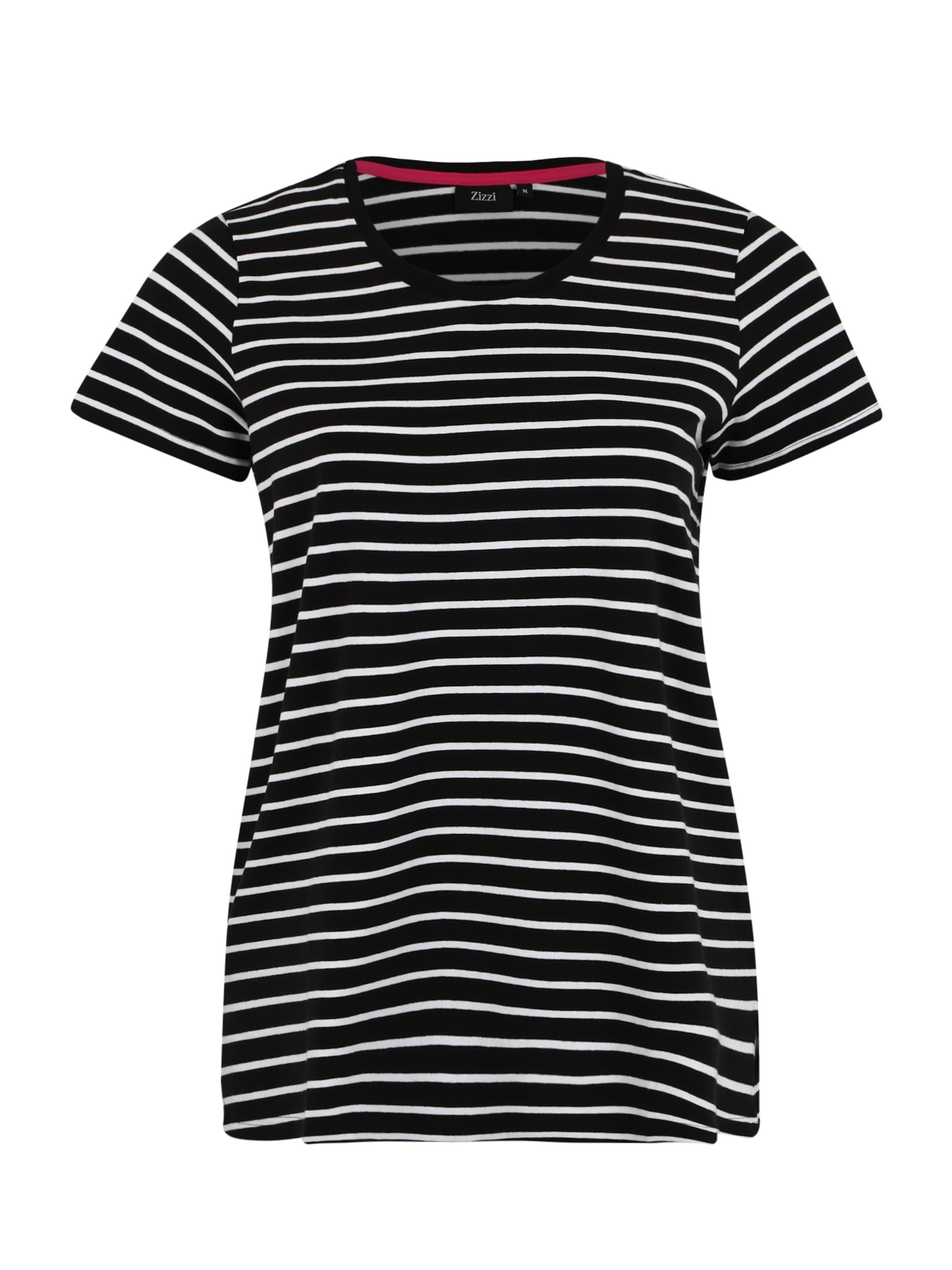 En Zizzi NoirBlanc T 'vmaggie' shirt 3jSc5q4ARL
