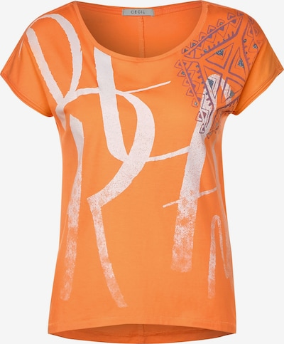 CECIL T-Shirt mit Frontprint in mischfarben / orange, Produktansicht