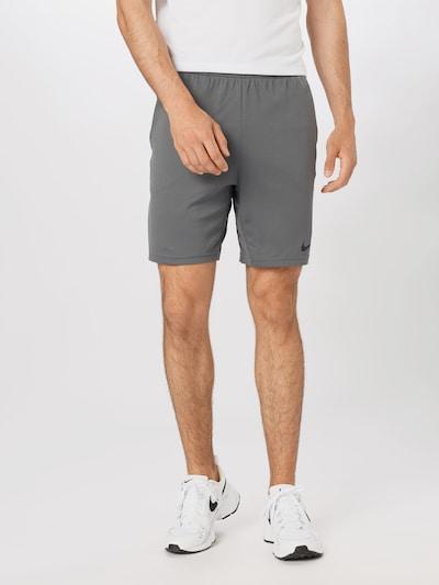 NIKE Športové nohavice - sivá melírovaná / čierna, Model/-ka