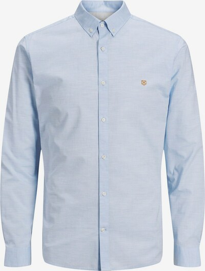 JACK & JONES Button-Down Popeline Hemd in hellblau, Produktansicht