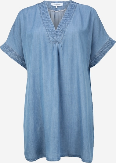 ONLY Carmakoma Kleid 'CARFIEKE LIFE SS DENIM TUNIC DRESS' in blue denim, Produktansicht