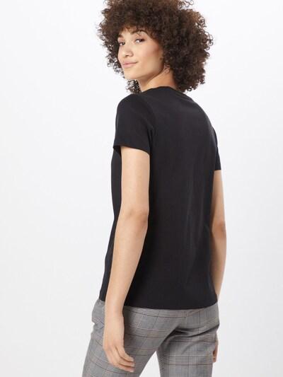TOMMY HILFIGER Shirt 'HERITAGE V-NECK TEE' in schwarz: Rückansicht