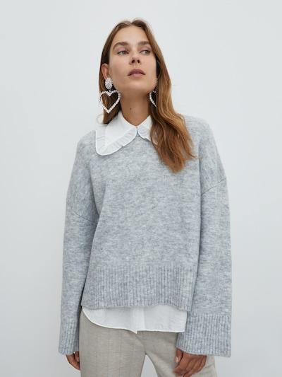 EDITED Pullover 'Grace' in grau, Modelansicht