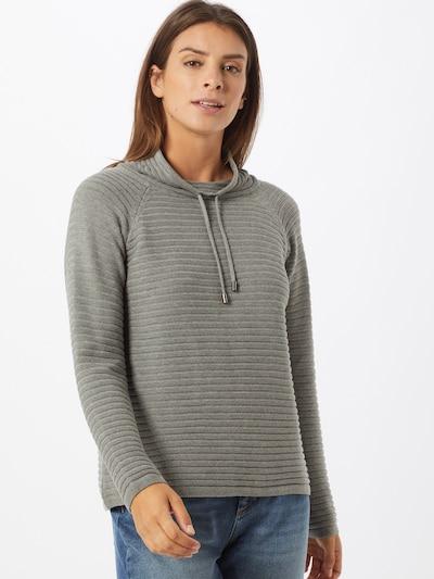 Cartoon Pullover in grau, Modelansicht